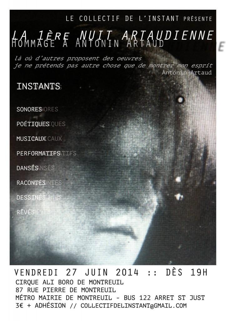 affiche Nuit artaud